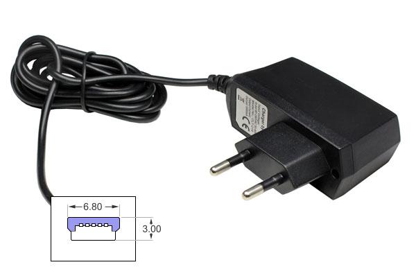 navad ladeger t 220 volt ch stecker mit usb mini b. Black Bedroom Furniture Sets. Home Design Ideas